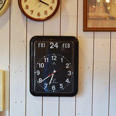 Twemco Radio Control Calendar Clock BLACK