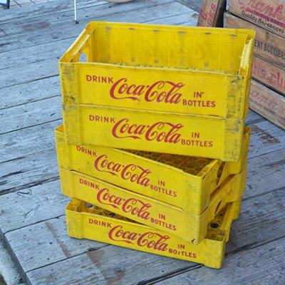 USED COCA COLA DRINK CASE