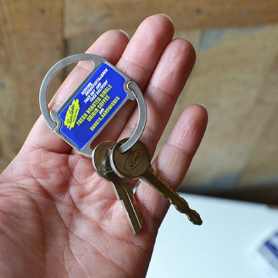 Double Clip Key Ring