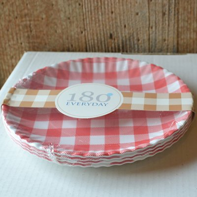 Melamine Gingham Plates Set of 4
