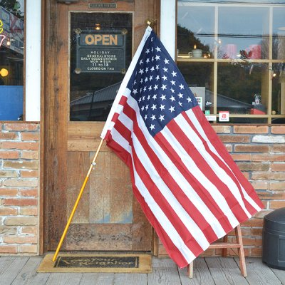 Vintage American Flag with Pole