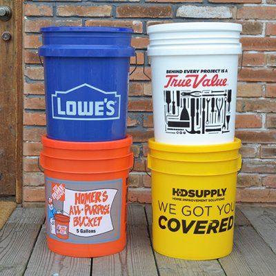 U.S.A. BUCKET with LID