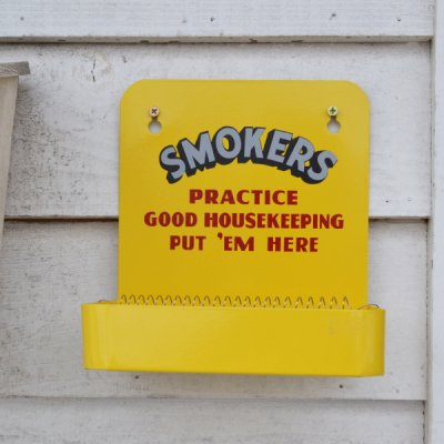 SMOKERS Wall Ashtray