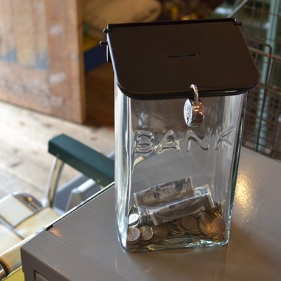 Lowis Glass Coin Bank