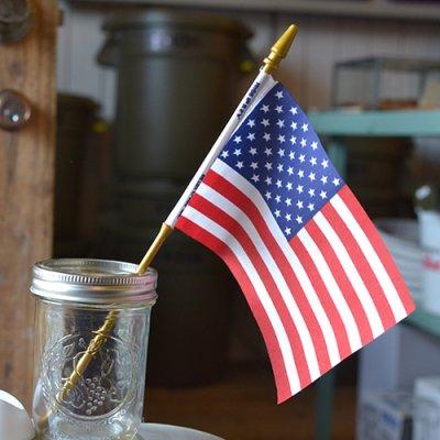 Vintage  Mini American Flag