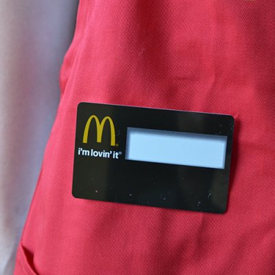 McDonald's Name Plate