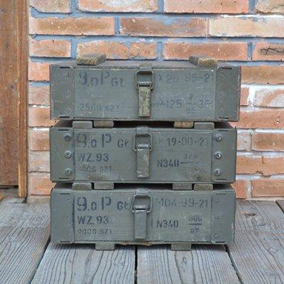 VINTAGE POLAND AMMO BOX OLIVE