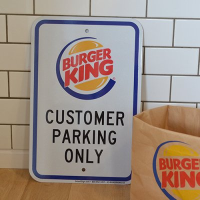 BURGER KING Deadstock Metal Sign
