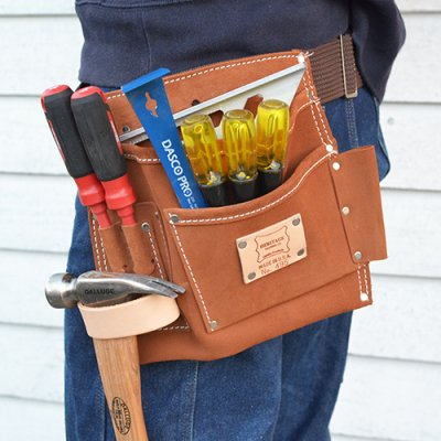 HERITAGE LEATHER TOOL BAG 5PKT