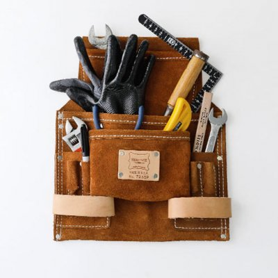HERITAGE LEATHER NAIL & TOOL BAG 9PKT