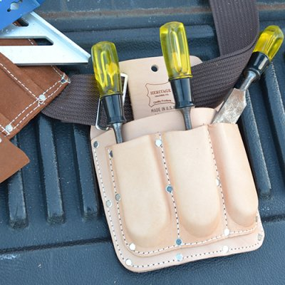 HERITAGE LEATHER UTILITY TOOL POUCH 4PKT