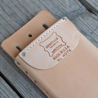 HERITAGE LEATHER BOX SHAPE TOOL POUCH