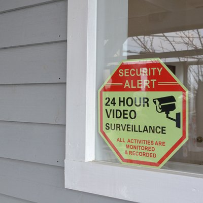 U.S.A.SECURITY SIGN OCTAGON