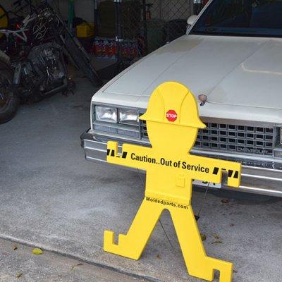 Caution Man Big Sign