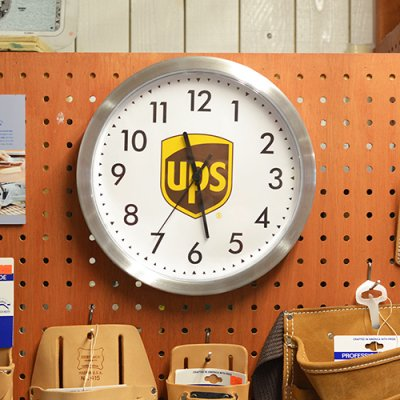 UPS METAL WALL CLOCK
