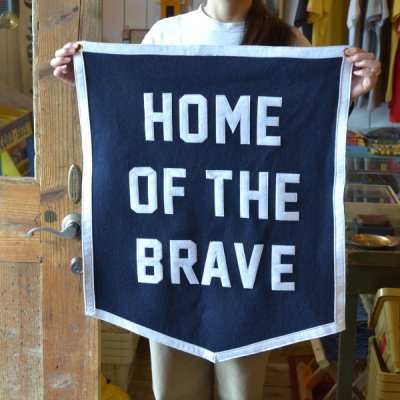 OXFORD PENNANT CHAMPION BANNER -HOME OF THE BRAVE-
