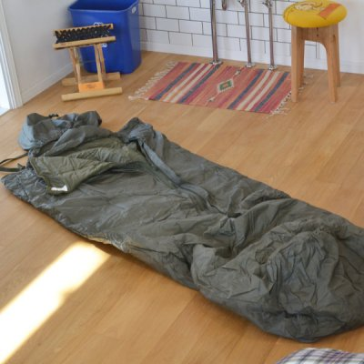 French army dead stock sleeping bag