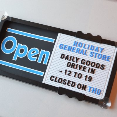 OPEN / CLOSED SHOP SIGN