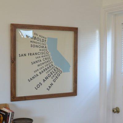 ORANGE & PARK CALIFORNIA COASTAL COUNTIES  POSTER FRAME