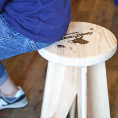 BURRO BRAND WOOD STOOL