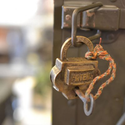 Old Brass Padlock