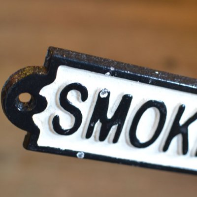 Iron Sign SMOKING AREA