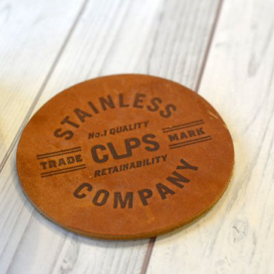 CUPS CO Leather Coaster
