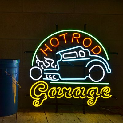 Hot Rod Garage Neon Sign