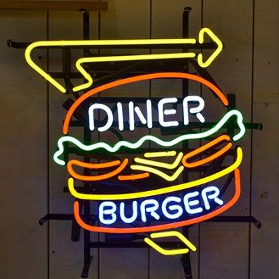 Burger Diner Neon Sign