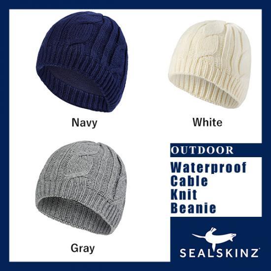 Waterproof Cable Knit Beanie - 完全防水グローブ・ハット・ソックスのシールスキンズ・日本総代理店オフィシャルサイト  d01a95dba22