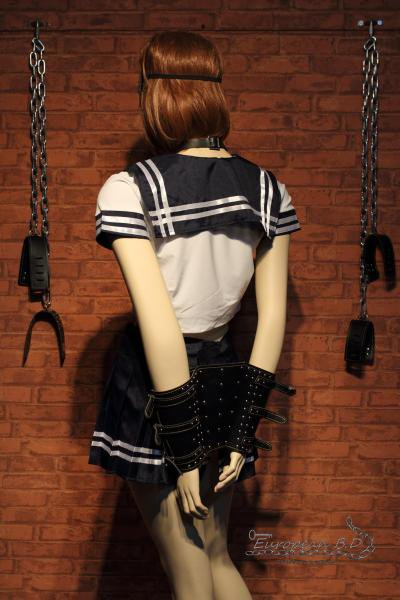 妄想プレイ SM学園シリーズ C組 セーラー服 (紺リボン) 『レザー』セット