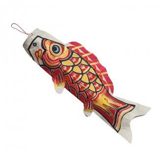 和紙 鯉のぼり 単品 中(赤)