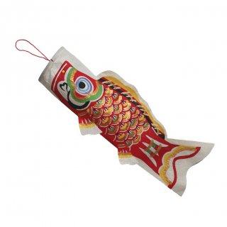 和紙 鯉のぼり 単品 小(赤)
