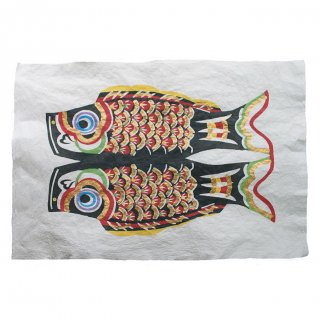 和紙 鯉のぼり 型染絵(黒)