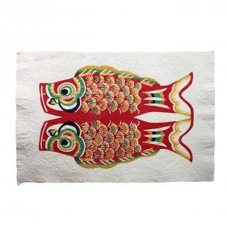 和紙 鯉のぼり 型染絵(赤)