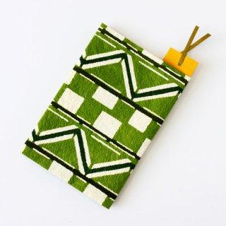 和紙ブックカバー<br>[市松幾何紋 緑]<br>