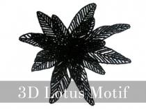 3Dロータス・モチーフレース