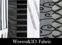 織り柄&3Dストレッチ素材