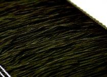 ストレッチフリンジ30cm丈 ブラック