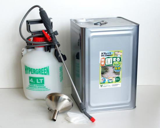 【強度35%UP】かんたん固まるくんスーパー 16kg缶 かんたん施工セット