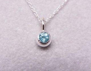 ブルーアパタイトの純銀の珠