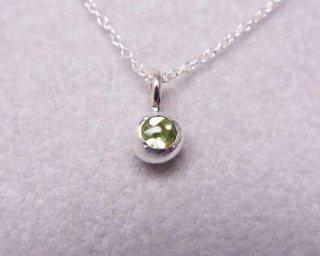 ペリドットの純銀の珠