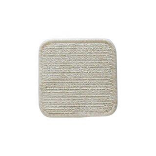 四角い(1辺20cm)マット、ウールと綿の無染色ヨキ(川)- Joki -