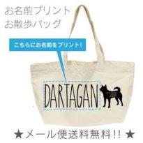 柴犬 シルエット 名入れバッグ(横型 中)