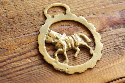 イギリス 真鍮プレート 馬