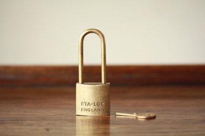 イギリス 真鍮パドロック 鍵付き
