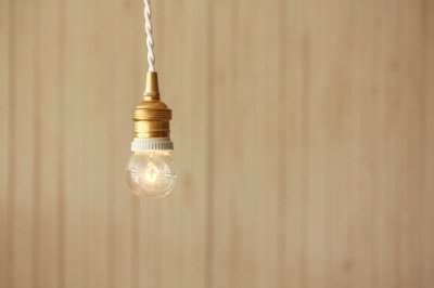 ペンダント・ソケットランプ 真鍮×セラミックソケット ホワイト 100cm
