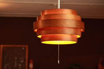 北欧風2灯ウッドペンダントランプ Ring