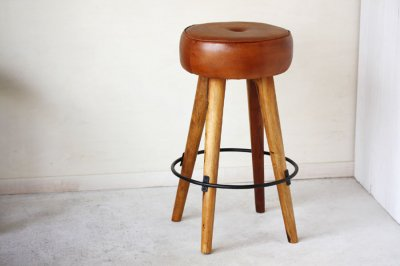 <img class='new_mark_img1' src='//img.shop-pro.jp/img/new/icons13.gif' style='border:none;display:inline;margin:0px;padding:0px;width:auto;' />SF Leather High Stool / レザーハイスツール