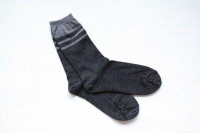 絹屋 内側シルク2重編み靴下(ウール) レディース 墨色